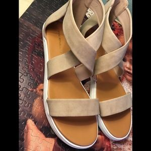 Shoe Republic LA  zip back Sandals size 10